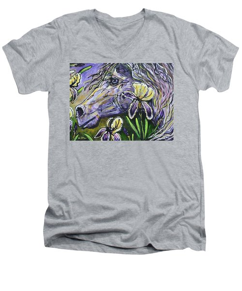 Iris Upon A Star Men's V-Neck T-Shirt