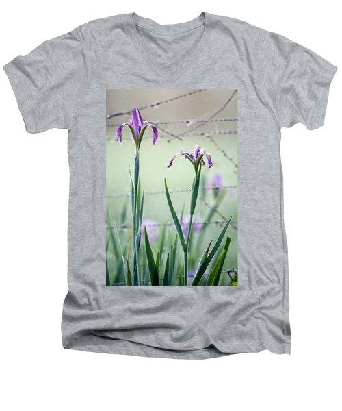 Irises2 Men's V-Neck T-Shirt