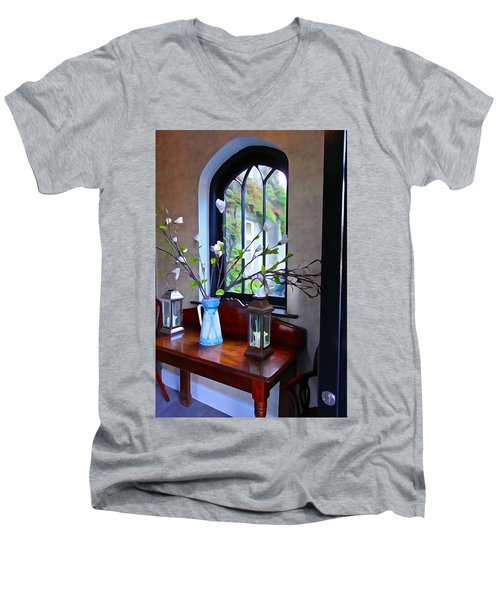 Men's V-Neck T-Shirt featuring the photograph Irish Elegance by Charlie and Norma Brock