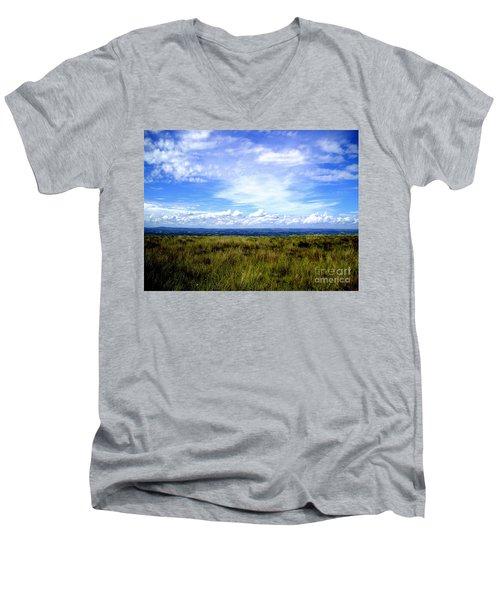 Irish Sky Men's V-Neck T-Shirt by Nina Ficur Feenan