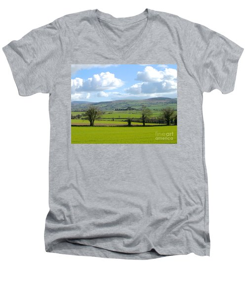 Irish Spring Men's V-Neck T-Shirt by Suzanne Oesterling