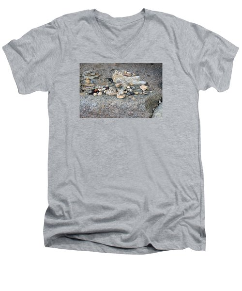 Men's V-Neck T-Shirt featuring the photograph Ishi by Cassandra Buckley