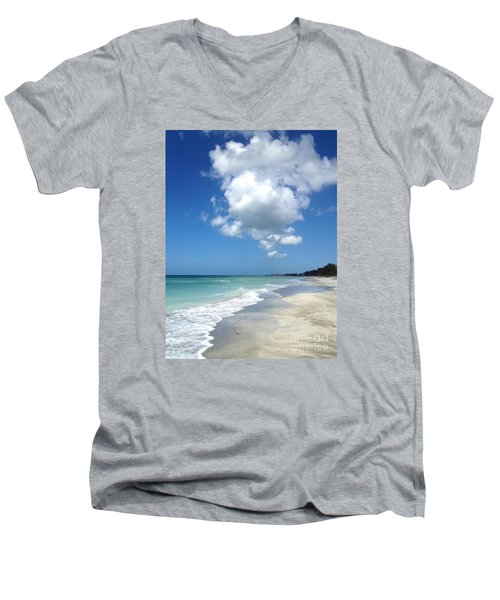Men's V-Neck T-Shirt featuring the photograph Island Escape  by Margie Amberge