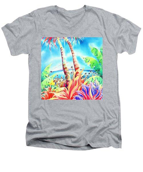 Island Of Music Men's V-Neck T-Shirt