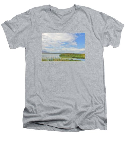Men's V-Neck T-Shirt featuring the photograph Island Peace by Marilyn Diaz