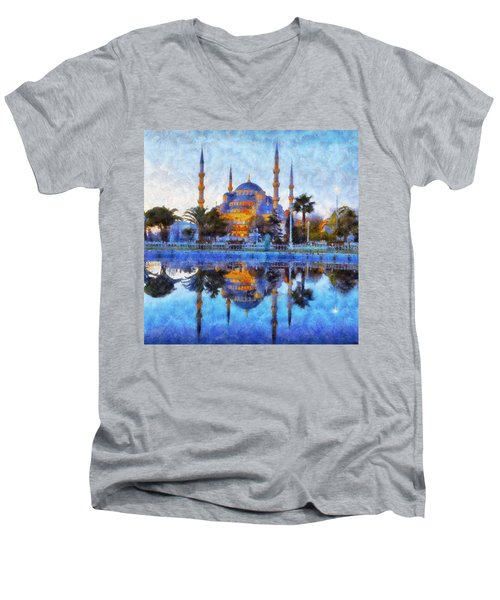 Istanbul Blue Mosque  Men's V-Neck T-Shirt