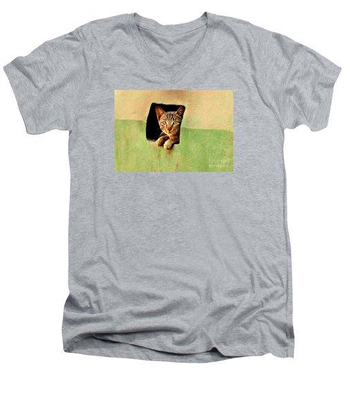 It Is My Home Men's V-Neck T-Shirt by Manjot Singh Sachdeva