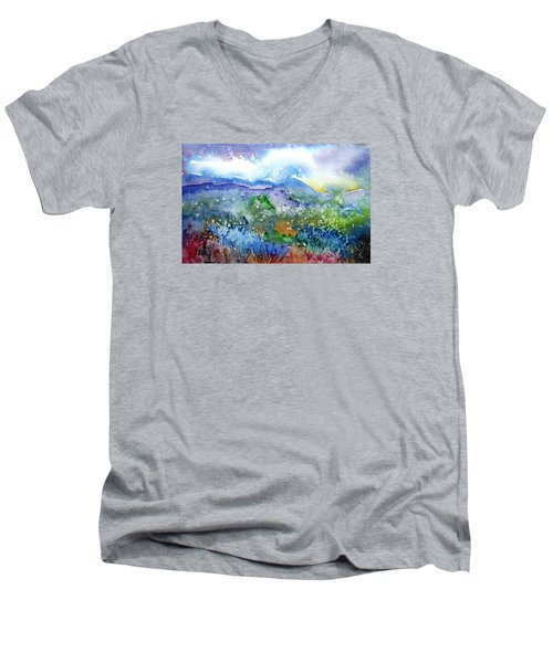 It Sometimes Rains In Tuscany Too  Men's V-Neck T-Shirt