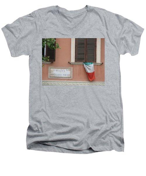 Italian Flag Men's V-Neck T-Shirt