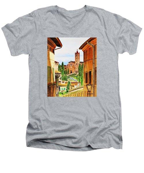 Italy Siena Men's V-Neck T-Shirt