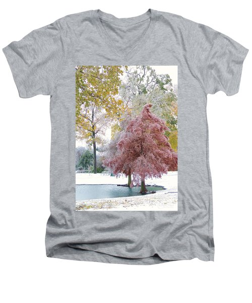 Its Beginning To Look A Lot Like Christmas Men's V-Neck T-Shirt
