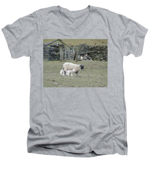 Men's V-Neck T-Shirt featuring the photograph It's Spring Time by Tiffany Erdman