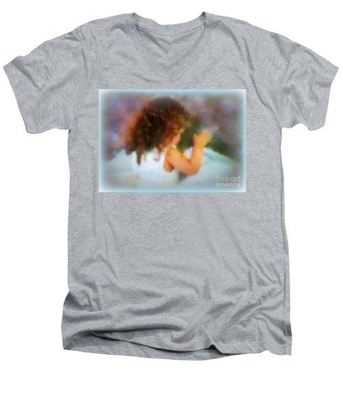 Ivy Rose  Spring's Child Men's V-Neck T-Shirt