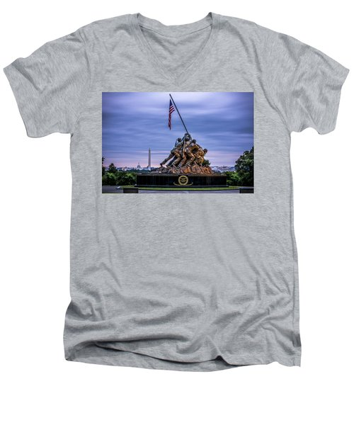 Iwo Jima Monument Men's V-Neck T-Shirt