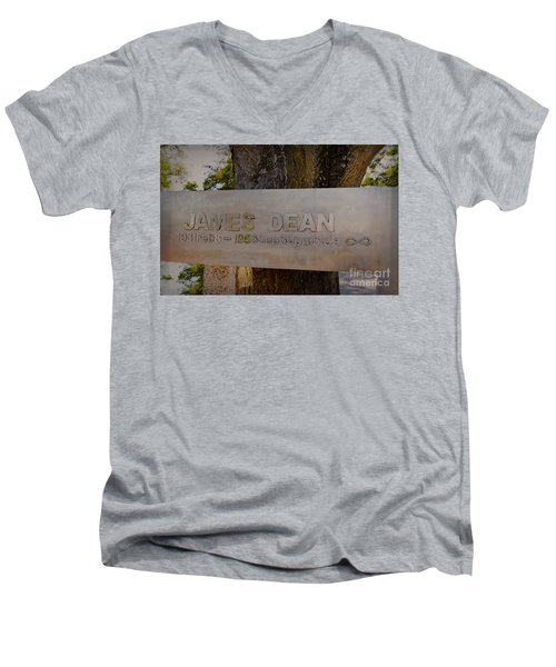 James Dean James Dean Men's V-Neck T-Shirt by Janice Rae Pariza