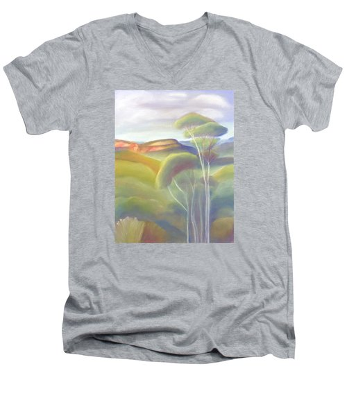 Jamison Valley Blue Mountains National Park Nsw Australia Men's V-Neck T-Shirt