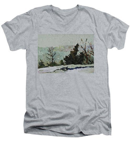 January Grays Men's V-Neck T-Shirt