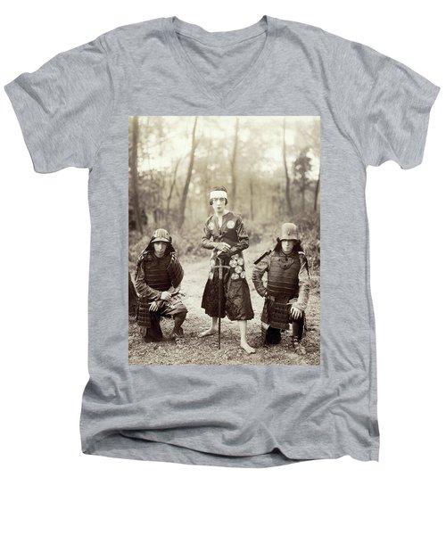 Men's V-Neck T-Shirt featuring the photograph Japan Dancer, 1920s by Granger