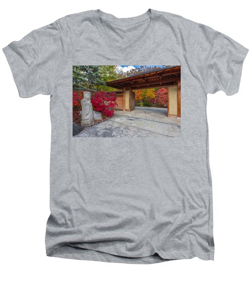 Men's V-Neck T-Shirt featuring the photograph Japanese Main Gate by Sebastian Musial