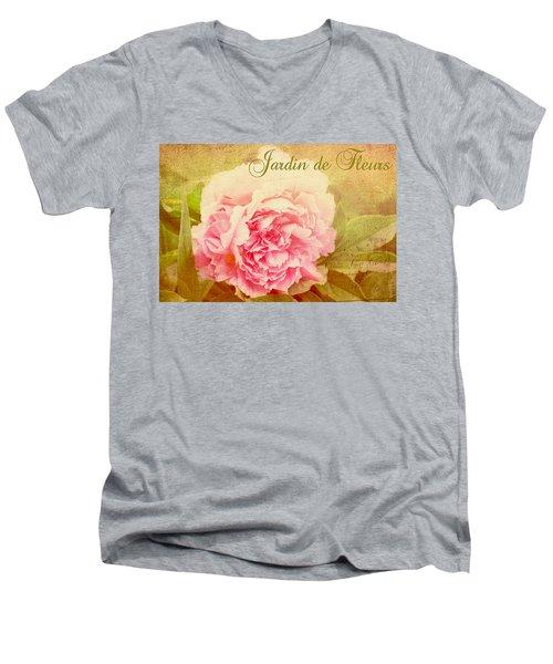 Jardin De Fleurs Men's V-Neck T-Shirt