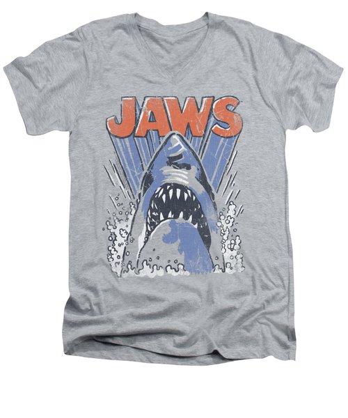 Jaws - Comic Splash Men's V-Neck T-Shirt