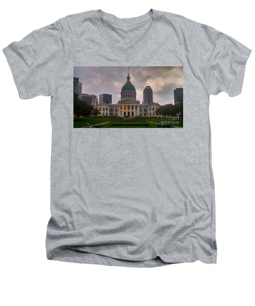 Jefferson Memorial Bldg Men's V-Neck T-Shirt