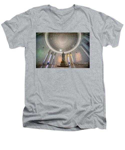 Jefferson's Back Men's V-Neck T-Shirt