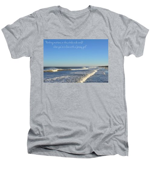 Jersey Girl Seaside Heights Quote Men's V-Neck T-Shirt