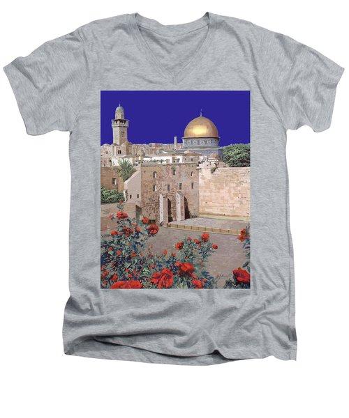 Jerusalem Men's V-Neck T-Shirt