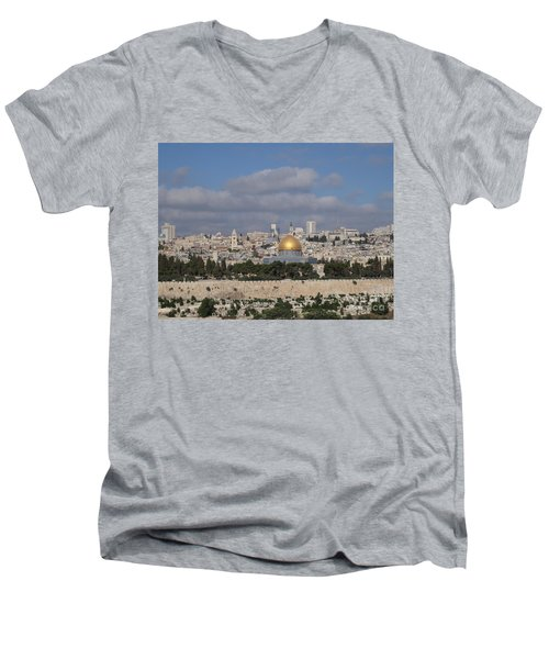 Jerusalem Old City Men's V-Neck T-Shirt