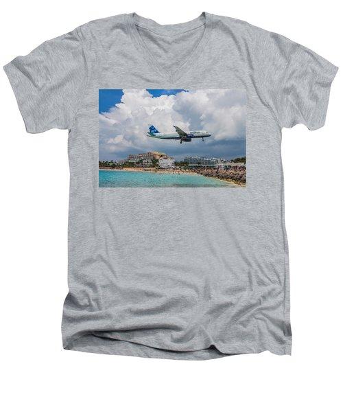 jetBlue in St. Maarten Men's V-Neck T-Shirt