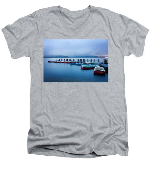 Jetty At Sun Moon Lake Men's V-Neck T-Shirt