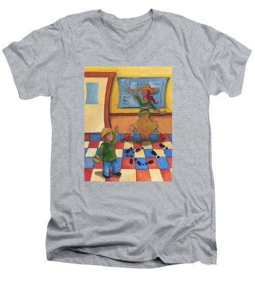 Jhonan And His Teacher  Men's V-Neck T-Shirt