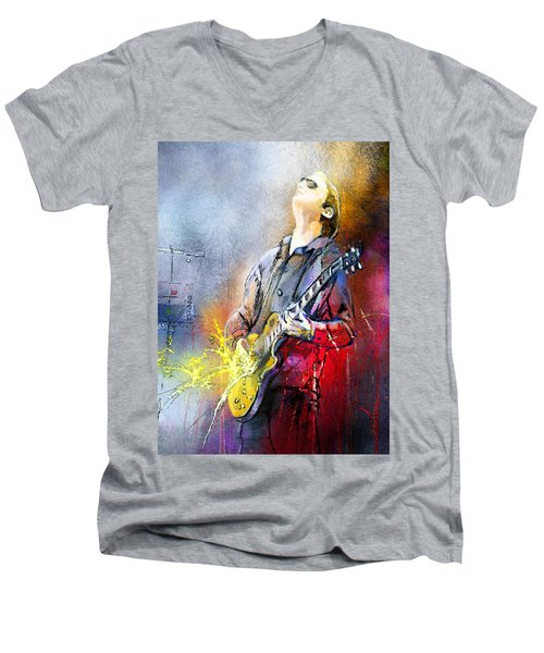 Joe Bonamassa 02 Men's V-Neck T-Shirt