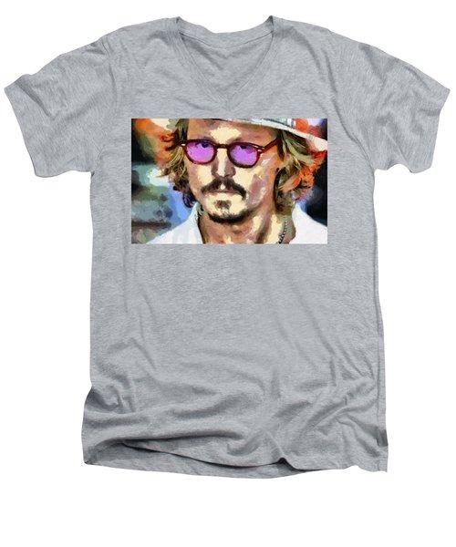 Johnny Depp Actor Men's V-Neck T-Shirt