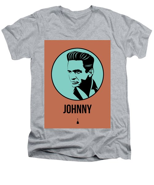 Johnny Poster 1 Men's V-Neck T-Shirt by Naxart Studio