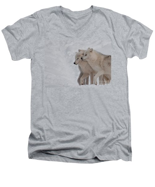 Men's V-Neck T-Shirt featuring the photograph Joined At The Hip by Bianca Nadeau