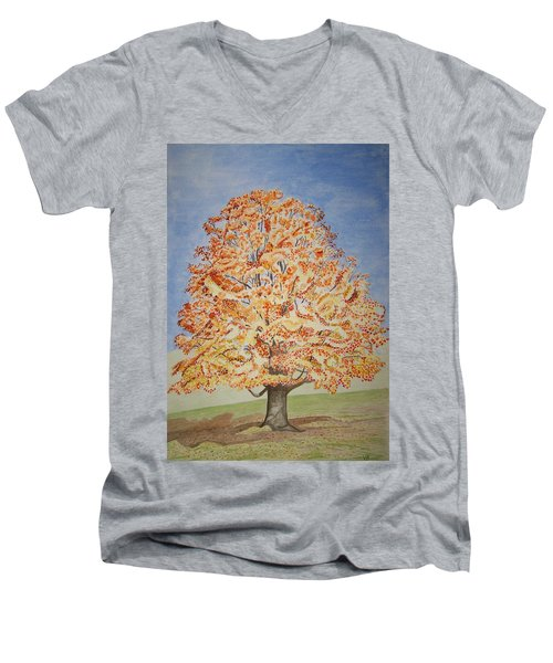 Jolanda's Maple Tree Men's V-Neck T-Shirt