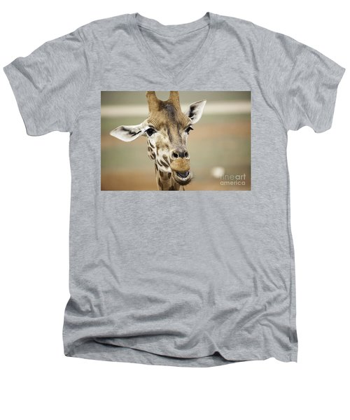 Jolly Giraffe Men's V-Neck T-Shirt