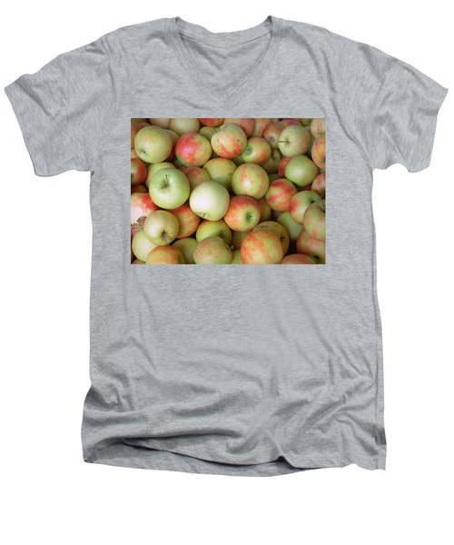 Men's V-Neck T-Shirt featuring the photograph Jonagold Apples by Joseph Skompski