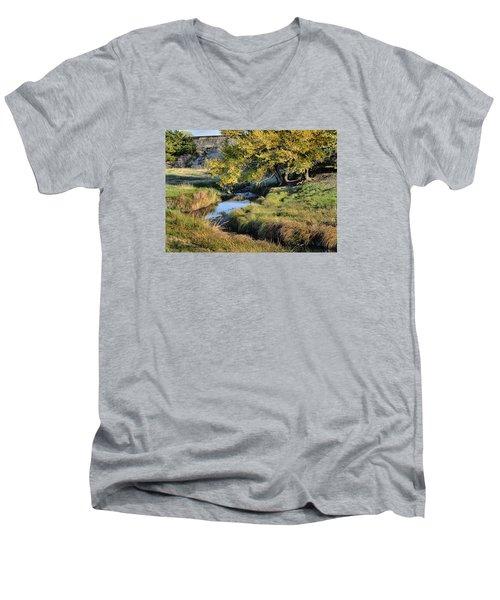 Jordan Creek Autumn Men's V-Neck T-Shirt by Bruce Morrison