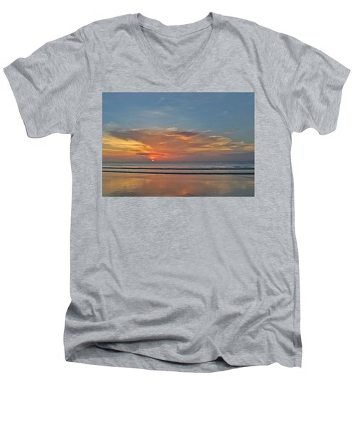 Jordan's First Sunrise Men's V-Neck T-Shirt
