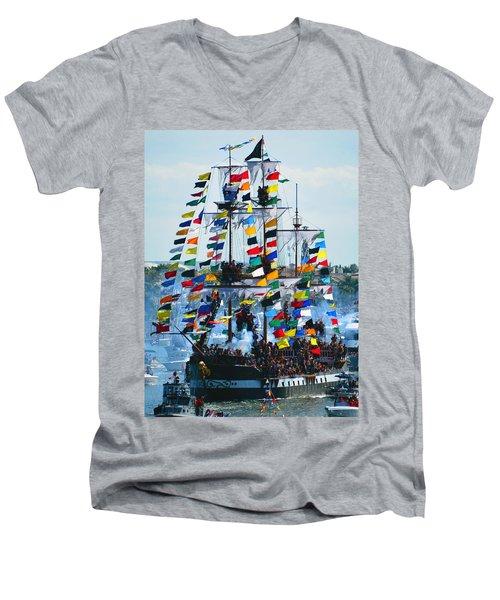 Jose Gasparilla Ship Work B Men's V-Neck T-Shirt