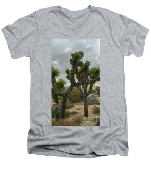 Joshua Cloudz Men's V-Neck T-Shirt by Angela J Wright