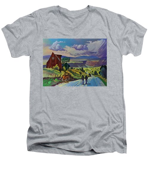 Journey Along The Road To Infinity Men's V-Neck T-Shirt