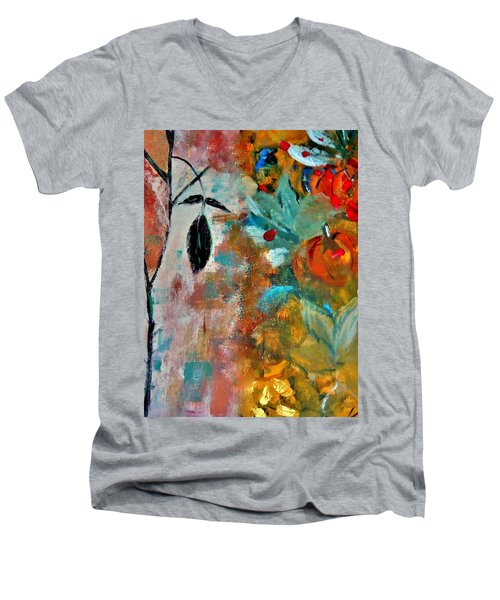 Joy Men's V-Neck T-Shirt by Lisa Kaiser