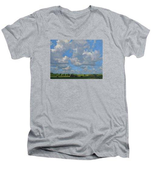 July In The Valley Men's V-Neck T-Shirt by Bruce Morrison