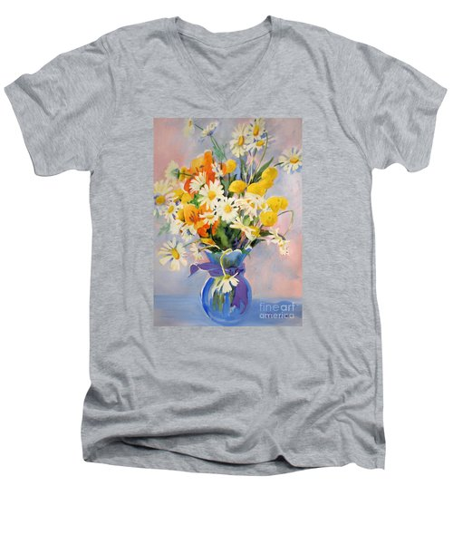 July Summer Arrangement  Men's V-Neck T-Shirt by Kathy Braud