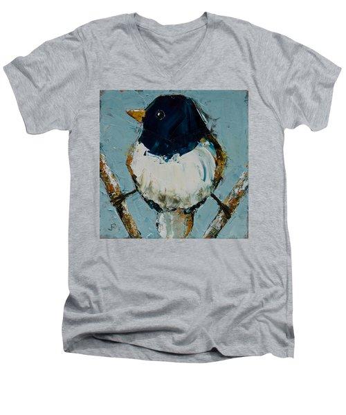 Junco On Stilts Men's V-Neck T-Shirt