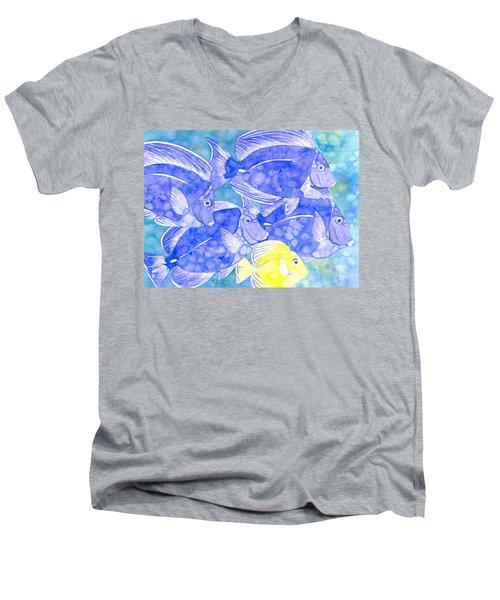 Junior Goes To School Men's V-Neck T-Shirt